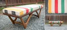 Reinspired Home Mid Century Hudson Bay Four Point Style Blanket Bench