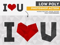 Low Poly Photoshop Free Action | PSDDude