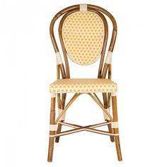 Cream & Orange Mediterranean Bistro Chair (E)