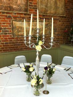 simple Candelabra, Wedding Decorations, Candles, Simple, Weddings, Ideas, Wedding, Candlesticks, Wedding Decor