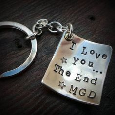 A charmingly handmade, hand-stamped keyring, personalised with your special message. The perfect gift for someone who doesn't wear jewellery or who is difficult to buy for. You can choose your own wording over 4 lines and up to 32 characters (max 8 letters per line including spaces).