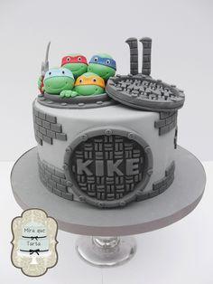 TMNT cake. Tarta tortugas Ninja. @Mira Ihmemaassa que Tarta