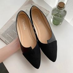 Apr 2020 - Youyedian leather shoes splice color shoe ballerina slip on shoes women flats pointed toe ballet footwear buty damskie Pointed Toe Loafers, Loafer Flats, Loafers For Women, Shoes Women, Ladies Loafers, Pencil Heels, Fashion Flats, Ad Fashion, Color Fashion