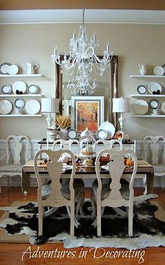 white distressed dining table | Living / Dining | Pinterest ...
