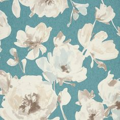 Casadeco All Over Fleur Wallpaper - Turquoise - AMG26826106 ($95) ❤ liked on Polyvore featuring home, home decor, wallpaper, turquoise, turquoise home decor, floral pattern wallpaper, turquoise home accessories, shimmer screen and turquoise wallpaper