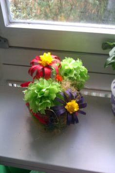 Garbage flowers ;) nd pot