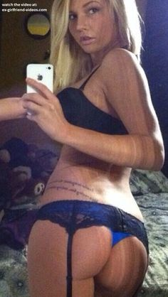 Sexy lingerie booty selfshot
