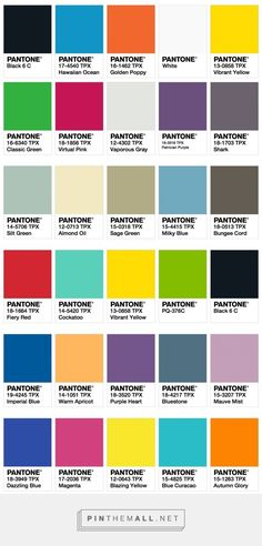 ISPO Color Palette Fall/Winter 2017/2018 ‹ Fashion Trendsetter... - a grouped images picture - Pin Them All