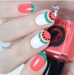 Watermelon Nails