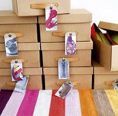 shoe storage ideas box labels