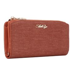 Aitbags Shinning Synthetic Leather Women's Wallets Credit Card Clutches bit.ly/AITBAGSwomen-wallets Women's Wallets, Orange Poppy, Wallets For Women, Clutches, Poppies, Zip Around Wallet, Style Inspiration, Leather, Bags