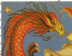 Бесплатная схема вышивки крестом дракон