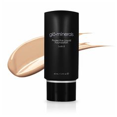 glo minerals Protective Liquid Foundation - Satin II in golden light | glo
