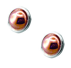 Tianguis Jackson Copper and Silver Petite Dome Stud Earrings