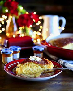 Custardy Cornbread with Honey Butter - Taste With The Eyes Side Dish Recipes, Wine Recipes, Bread Recipes, Side Dishes, Cooking Recipes, Lucky Food, Honey Butter, Specialty Foods, Gluten Free Desserts