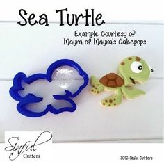 """103 Likes, 7 Comments - Sinful Cutters, LLC (@sinfulcutters) on Instagram: """"Another look at one of my favs!  Isn't he just adorable!!! This Baby Sea Turtle cookie was done by…"""""""