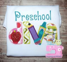 Hey, I found this really awesome Etsy listing at https://www.etsy.com/listing/201884990/free-shipping-preschool-diva