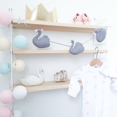 Our new swan garland by Velveteen Babies (velveteenbabies.com)