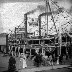 The Oleander, which carried President H Taft to NOLA. Left St Louis 25 Oct 1909, joined by The Missouri carrying delegates