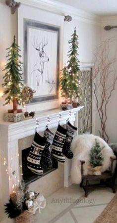 Christmas Mantel Decorating Ideas-55-1 Kindesign