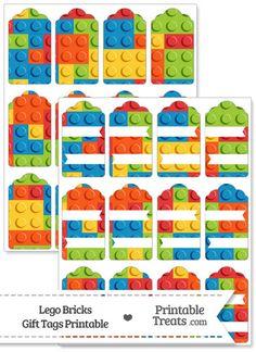 Lego Bricks Gift Tags from PrintableTreats.com