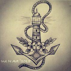 Resultado de imagen de lighthouse tattoo draw