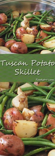 Recipe for Tuscan Potato Skillet - Lemon zest, garlic and rosemary add a delightful Tuscan twist to this green bean, potato and chicken skillet.