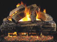 RH Peterson 30 Inch Split Oak Log Set | Fine's Gas