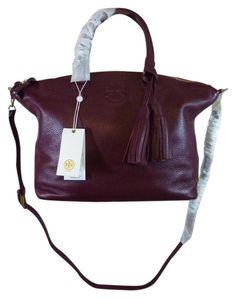 a4f940e3ef7 Thea Cabernet Medium Slouchy Burgundy Leather Satchel