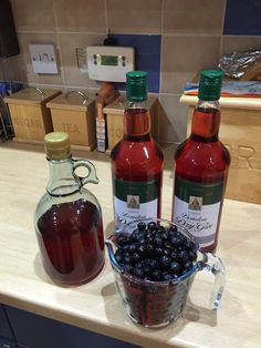Our Sloe Gin is ready and looking good!