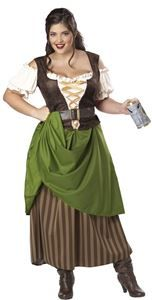 Tavern Maiden Adult Womens Plus Size Costume - 352776