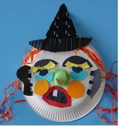 masker van papieren bord   Poppentheater Peterselie