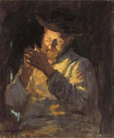 Lighting Up, Stanhope Alexander Forbes. Irish Realist Painter (1857 - 1947)
