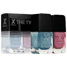 A limited-edition holiday set with either two holographic lacquers in rainbow-reflecting finishes, or a set with a metallic and paint-splatter effect top coat for a chic, modern mani.  eBay item number:151724880525.  http://www.ebay.com/itm/NIB-Formula-X-THE-TWO-Nail-Color-Lacquer-Polish-Limited-Edition-Juju-and-Voodoo-/151724880525?hash=item235381f28d:g:uYQAAOSwyQtViyWa#ht_954wt_1153