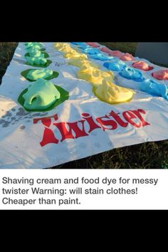 Messy twister with shaving cream! - Weird Shirts - Ideas of Weird Shirts - Summer bucket list. Messy twister with shaving cream! Things To Do At A Sleepover, Fun Sleepover Ideas, Sleepover Activities, Teen Sleepover, Summer Activities, Tween Party Ideas, Sleep Over Party Ideas, Party Ideas For Teenagers, Teenage Party Games