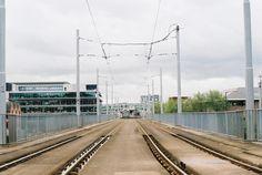 Tram lines in Nottingham