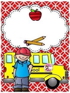Preschool Portfolio, School Binder Covers, Happy Planner Cover, Boarder Designs, Presents For Teachers, School Clipart, Fancy Fonts, Art Drawings For Kids, School Items