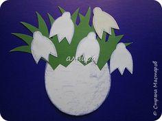 Картина панно рисунок 8 марта День матери День рождения Аппликация Цветочное настроение Бумага Картон фото 4