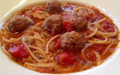 Spaghetti & Meatball Soup   Weight Watchers Recipes