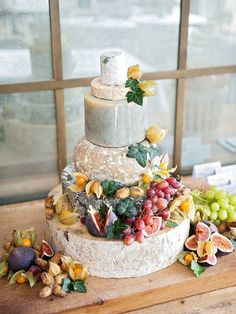 Best wedding cake ever - made of cheese & fruit