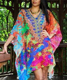 Look at this #zulilyfind! Royal & Pink Jewel Sidetail Tunic #zulilyfinds