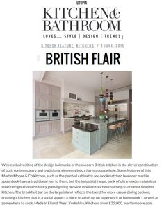 Martin Moore's kitchens are truly timeless, mixing traditional painted cabinetry with ultra modern features www.martinmoore.com Utopia Kitchen & Bathroom June 2015