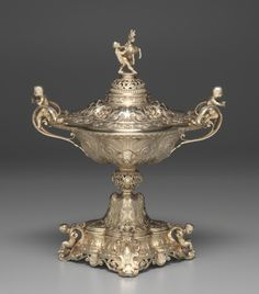 Centerpiece, 1838-1848 Charles-Nicolas Odiot (French, 1826-1868) silver gilt