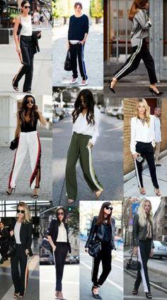 13f94fcb541a Inspirações de looks com Track Pants. Looks para o trabalho. Calça  esportiva. Calça