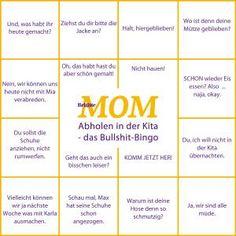 Bullshit-Bingo: Abholen in der Kita: 16 typische Sätze, die immer fallen - BRIGITTE MOM