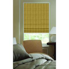 Nugget Brown 43-inch to 43.5-inch Ashton Stripe Plain Fold Roman Shades (43W x 60H Nugget) (Polyester)