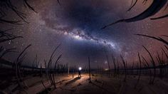 Photographer takes images of the night sky and Milky Way, Australia - Mar 2016 Self portrait of phot... - Solent News/REX/Shutterstock/Rex Images