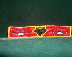 thunderbird bracelet with bear paws  native by deancouchie on Etsy