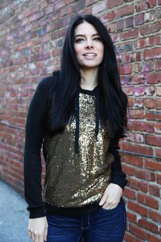 Mother Of All Sequin Hoodie {Black}