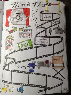 Movie night ideas page in my #bulletjournal #bujo #movies